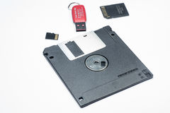 Dispositivi di archiviazione di dati fotografia stock