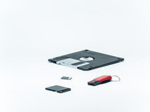 Dispositivi di archiviazione di dati fotografie stock libere da diritti