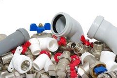 Dispositivi di impianto idraulico Fotografie Stock