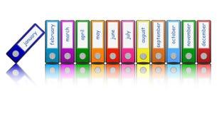Dispositivi di piegatura colorati Fotografia Stock