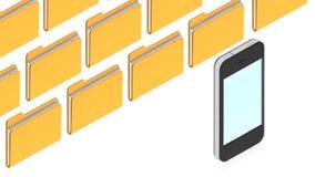 Dispositivi di piegatura con gli oggetti Fotografie Stock Libere da Diritti