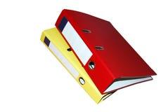 Dispositivi di piegatura del raccoglitore Immagine Stock