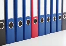Dispositivi di piegatura dell'archivio di affari - primo piano Immagini Stock