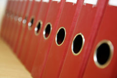 Dispositivi di piegatura dell'ufficio Immagine Stock