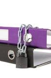 Dispositivi di piegatura dell'ufficio isolati sui precedenti bianchi Fotografie Stock Libere da Diritti