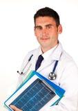 Dispositivi di piegatura della holding del medico Immagini Stock