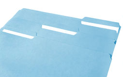 Dispositivi di piegatura di archivio blu Fotografia Stock Libera da Diritti