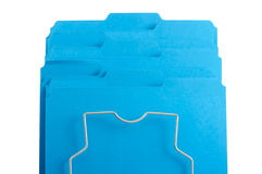 Dispositivi di piegatura di archivio blu in cremagliera. Fotografie Stock