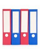 Dispositivi di piegatura di archivio variopinti Immagini Stock Libere da Diritti