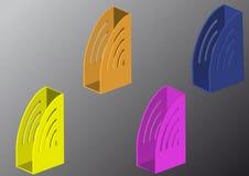 Dispositivi di piegatura di colore completo Fotografia Stock Libera da Diritti