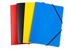 Dispositivi di piegatura di colore isolati Fotografia Stock