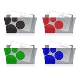 Dispositivi di piegatura impostati Fotografia Stock