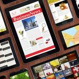 Dispositivi digitali dei modelli promozionali Fotografia Stock Libera da Diritti