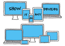 Dispositivi disegnati a mano, insieme di vettore Immagine Stock Libera da Diritti