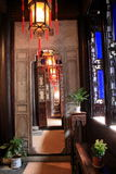 Dispositivi & giardino del salone di stile cinese Fotografie Stock