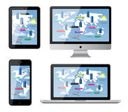 Dispositivi isolati Immagine Stock