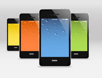 Dispositivi mobili moderni Immagine Stock