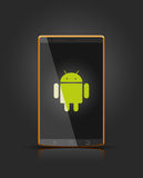 Dispositivo androide móvil del vector Fotografía de archivo libre de regalías