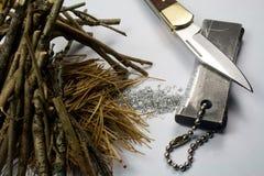 Dispositivo d'avviamento di fuoco del magnesio Immagine Stock Libera da Diritti