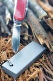 Dispositivo d'avviamento di fuoco del magnesio immagine stock
