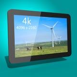 Dispositivo 3d da tabuleta Fotos de Stock Royalty Free
