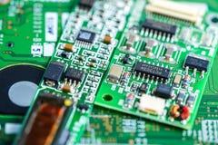 Dispositivo da eletrônica do prato principal do processador central do circuito de computador: conceito do hardware e da tecnolog imagens de stock