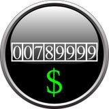 Dispositivo da medida do dólar Foto de Stock Royalty Free