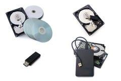 Dispositivo de armazenamento tal como movimentações de disco rígido, disco rígido externo, E.U. foto de stock royalty free