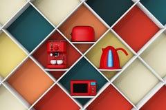 Dispositivo de cocina en el estante representación 3d stock de ilustración