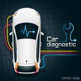 Dispositivo de diagnósticos del coche ilustración del vector