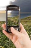 Dispositivo de la comunicación empresarial de la tecnología Imagen de archivo