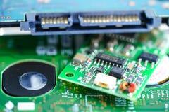 Dispositivo de la electrónica del procesador de la base del mainboard del microprocesador de la CPU del circuito de ordenador: co fotos de archivo