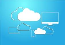 Dispositivo de la nube en el cielo ilustración del vector