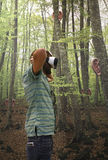 Dispositivo de la realidad virtual en el sistema Fotos de archivo libres de regalías