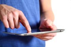Dispositivo de la tableta Fotografía de archivo libre de regalías