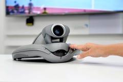 Dispositivo de la videoconferencia fotos de archivo