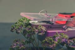 dispositivo de medição do CO2 para medir a fotossíntese do growi da planta fotografia de stock