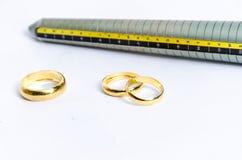 Dispositivo de medição para o anel de dedo Foto de Stock