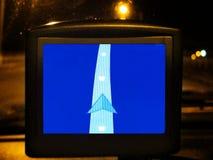 Dispositivo de sistema de navegación GPS genérico en la noche Imagen de archivo