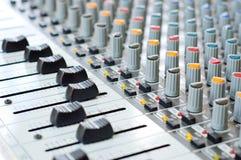 Dispositivo del panel de control de la música Imagen de archivo libre de regalías