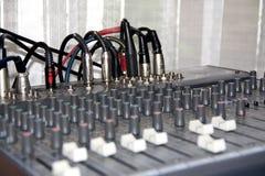 Dispositivo del pannello di controllo di musica Fotografia Stock Libera da Diritti