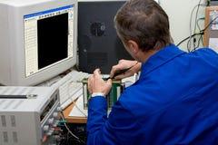 Dispositivo del ultrasonido de la tecnología y del desarrollo. Imágenes de archivo libres de regalías