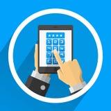 Dispositivo dello schermo di parola d'ordine Immagini Stock