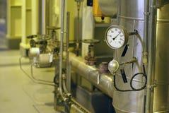 Dispositivo di controllo di pressione e di temperatura Fotografie Stock