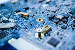 Dispositivo di elettronica dell'unità di elaborazione del centro di mainboard del chip del CPU del circuito di computer immagine stock