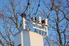 Dispositivo di input di una sottostazione elettrica Immagini Stock Libere da Diritti