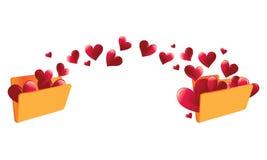 Dispositivo di piegatura commovente di amore illustrazione vettoriale