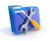 Dispositivo di piegatura con gli strumenti. Immagine Stock Libera da Diritti