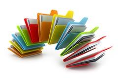 Dispositivo di piegatura con i documenti Immagini Stock