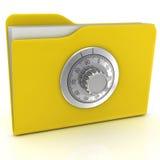 Dispositivo di piegatura del calcolatore con la serratura di combinazione. Immagini Stock